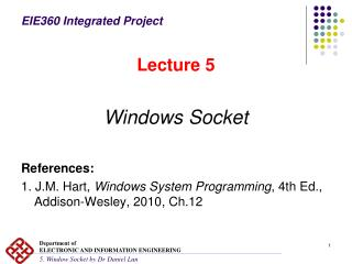 EIE360 Integrated Project