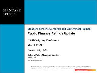 Public Finance Ratings Update
