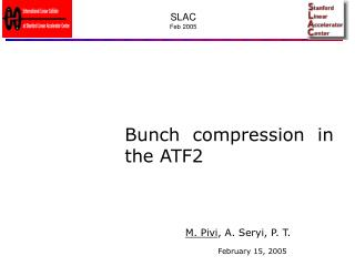 Bunch compression in the ATF2
