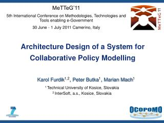 Architecture Design of a System for Collaborative Policy Modelling