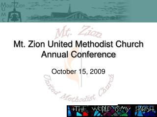Mt. Zion United Methodist Church Annual Conference