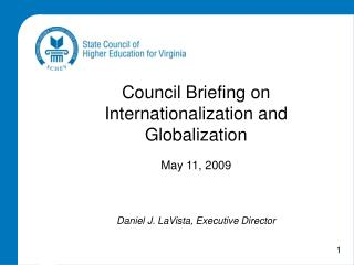 Council Briefing on Internationalization and Globalization