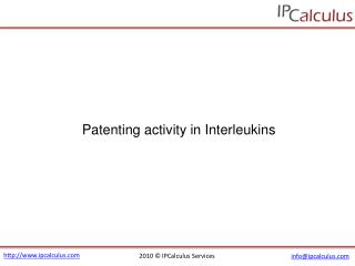 IPCalculus - Interleukins Patenting Activity