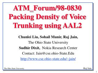 ATM_Forum/98-0830  Packing Density of Voice Trunking using AAL2