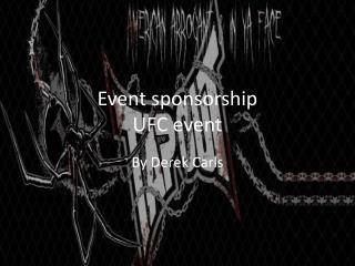 Event sponsorship UFC event