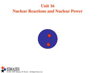 Unit 16 Nuclear Reactions and Nuclear Power