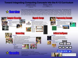 Toward Integrating Computing Concepts into the K-12 Curriculum