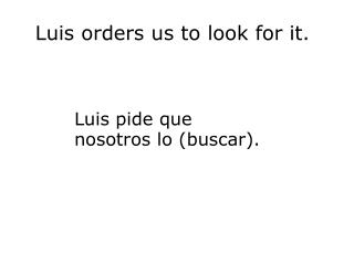 Luis orders us to look for it.