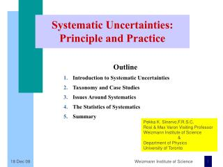 Systematic Uncertainties: Principle and Practice