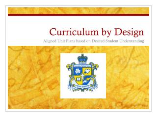 Curriculum by Design