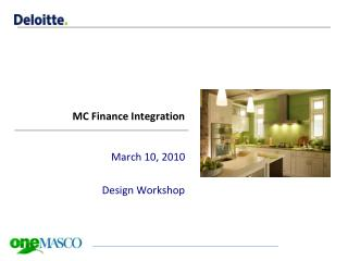 MC Finance Integration
