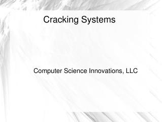 Cracking Systems