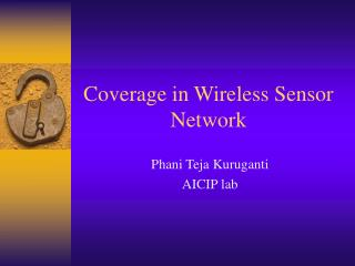 Coverage in Wireless Sensor Network
