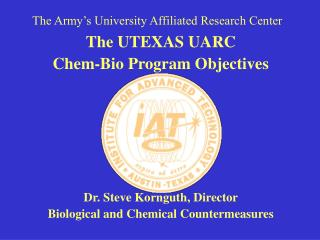 The Army's University Affiliated Research Center