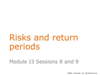 Risks and return periods