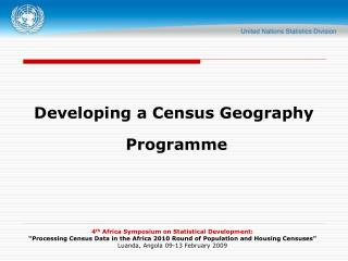 Developing a Census Geography  Programme