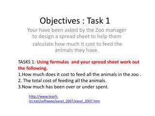 Objectives : Task 1