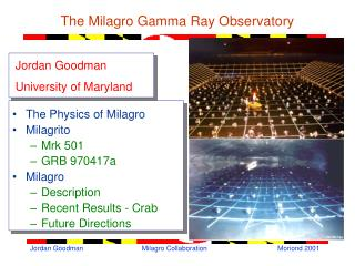 The Milagro Gamma Ray Observatory