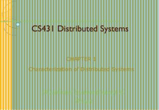 CS431 Distributed Systems