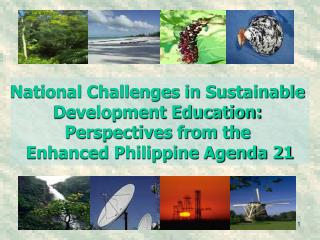 National Challenges in Sustainable  Development Education:  Perspectives from the  Enhanced Philippine Agenda 21