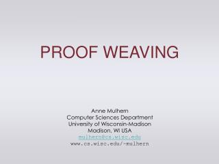 PROOF WEAVING