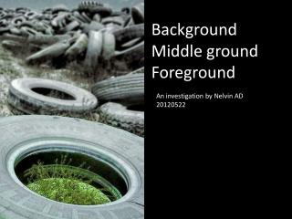 Background Middle ground Foreground