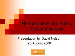Northamptonshire Public Sector Compact