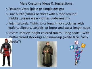 Male Costume Ideas & Suggestions