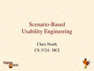 Scenario-Based  Usability Engineering