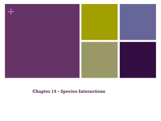 Chapter 14 – Species Interactions