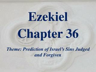 Ezekiel  Chapter 36