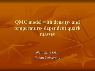 QMC model with density- and temperature- dependent quark masses