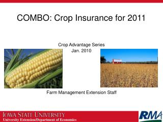 COMBO: Crop Insurance for 2011