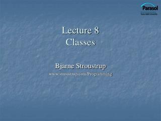 Lecture 8 Classes