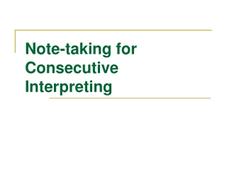 Unit 4: Note-Taking Analysis