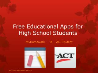 Free Educational Apps for High School Students