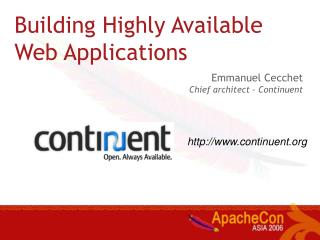 Building Highly Available Web Applications