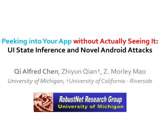 Peeking into Your App without Actually Seeing It :  UI State Inference and Novel Android Attacks