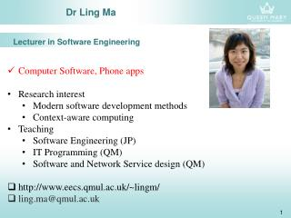 Dr Ling Ma