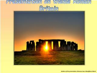 Presentation on theme Roman Britain