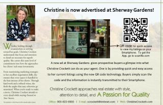 Christine is now advertised at Sherway Gardens!