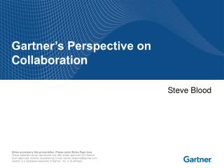 Gartner's Perspective on Collaboration