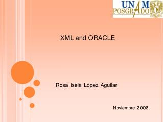 XML and ORACLE
