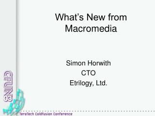What's New from Macromedia