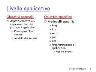 Livello applicativo