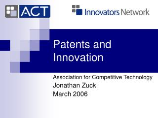 Patents and Innovation