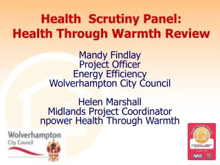 Health Scrutiny Panel: Health Through Warmth Review