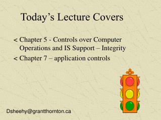 Today's Lecture Covers