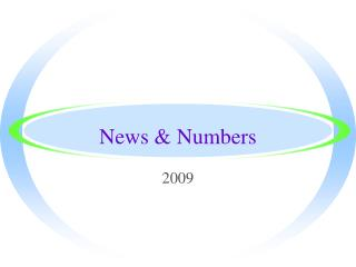 News & Numbers