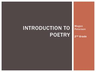 Introduction to Poetry